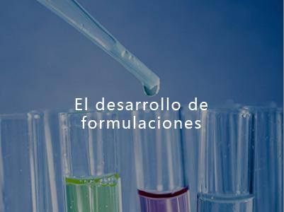 El desarrollo de formulaciones